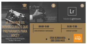 Fã de fotografia? Participe do Workshop de Lightroom!